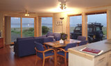 Open plan kitchen and lounge Buxa Farm Chalets & Croft House A964