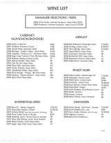Pricelists of Scott's Seafood Grill and Bar Folsom