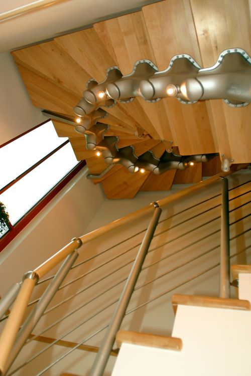 New Album of Spiral Stairs, Railing And Stair Threads 16 Cedar Ln - Photo 3 of 6