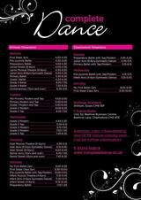 Pricelists of Complete Dance