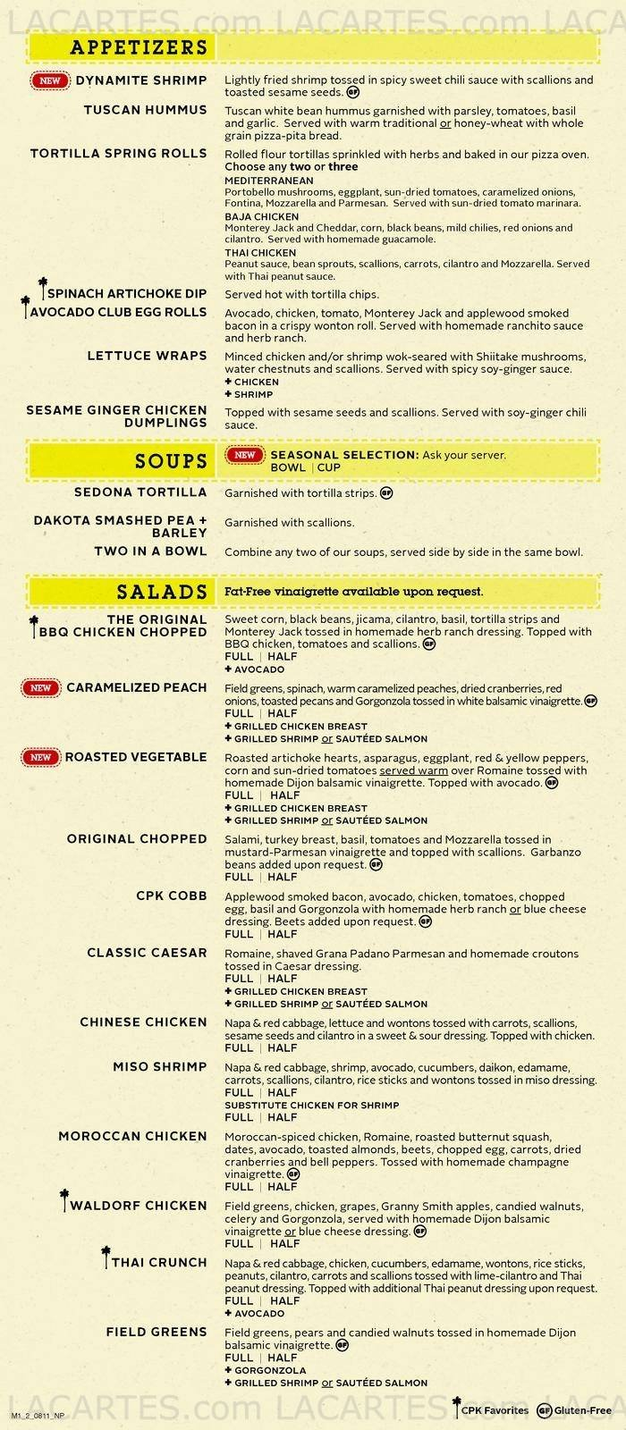 ordinary California Pizza Kitchen Singapore #6: Pricelists of California Pizza Kitchen Forum the Shopping Mall 583 Orchard Road - Photo 1 of