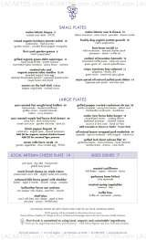 Pricelists of First Crush Restaurant Bar and Lounge