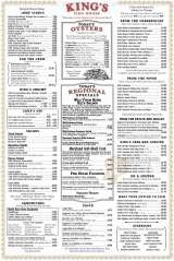 Menus prices 7 pages king 39 s fish house henderson for Fish house menu