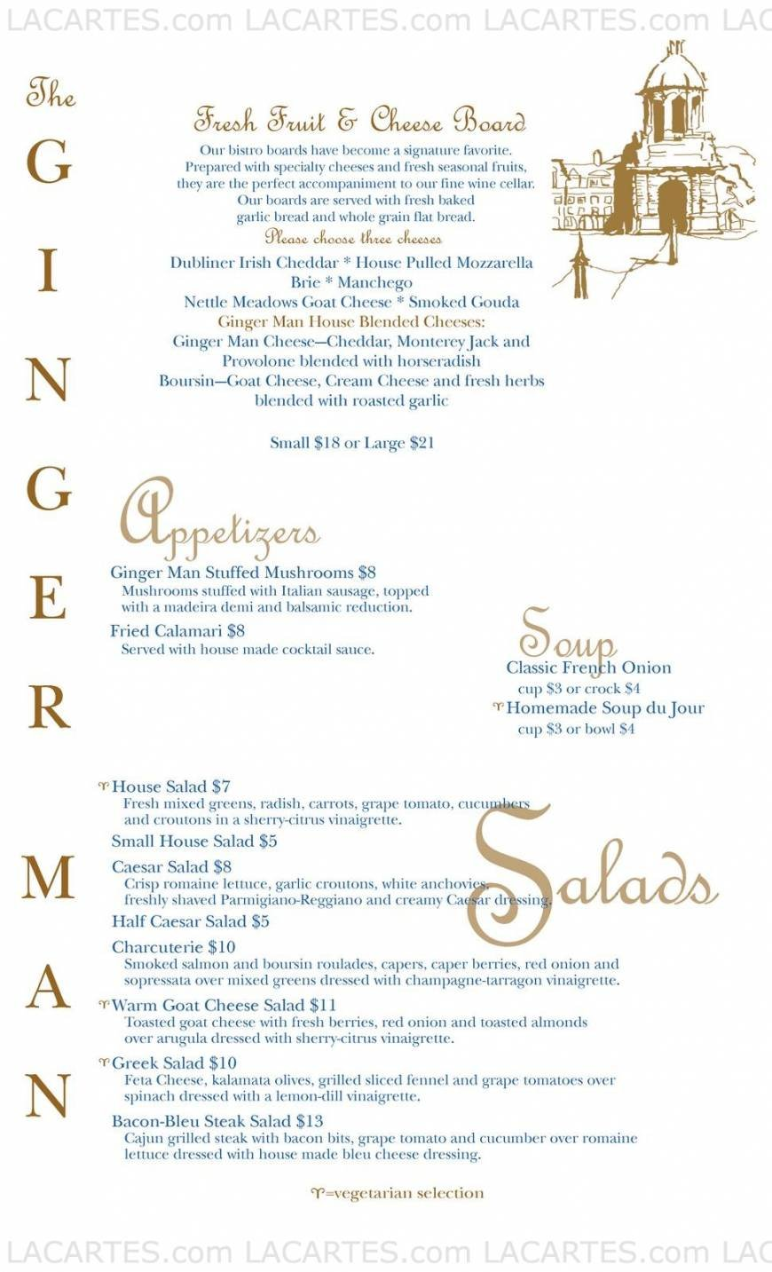 Pricelists of The Ginger Man 234 Western Avenue - Photo 2 of 2