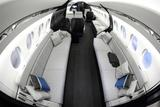 VNUKOVO, MOSCOW REGION, RUSSIA - SEPTEMBER 12, 2014: Dassault falcon 5X interior shown during Jetexpo-2014 exhibition at Vnukovo international airport.