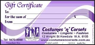 Costumes Gift Certificate, Fancy Dress Costumes for Men & Women in Perth Australia, Perth