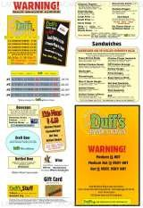 Pricelists of Duff's Famous Wings