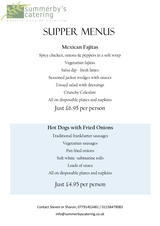 Pricelists of Summerby's Catering