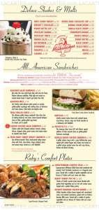 Menus & Prices, Ruby's Diner, Woodland Hills