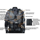 Tactical Vest Woodland Digital Camo Army Military SWAT Design Law Enfo