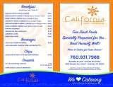 Pricelists of California Cafe & Catering