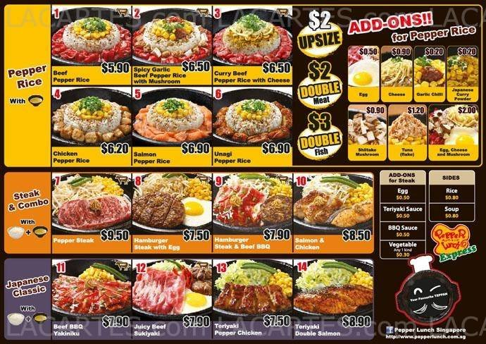 1 of 1 price lists menus pepper lunch express lot 1 food pricelists of pepper lunch express lot 1 food junction 21 choa chu kang ave 4 forumfinder Image collections