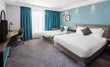 Twin Guest Room at Hampton by Hilton Belfast City Centre