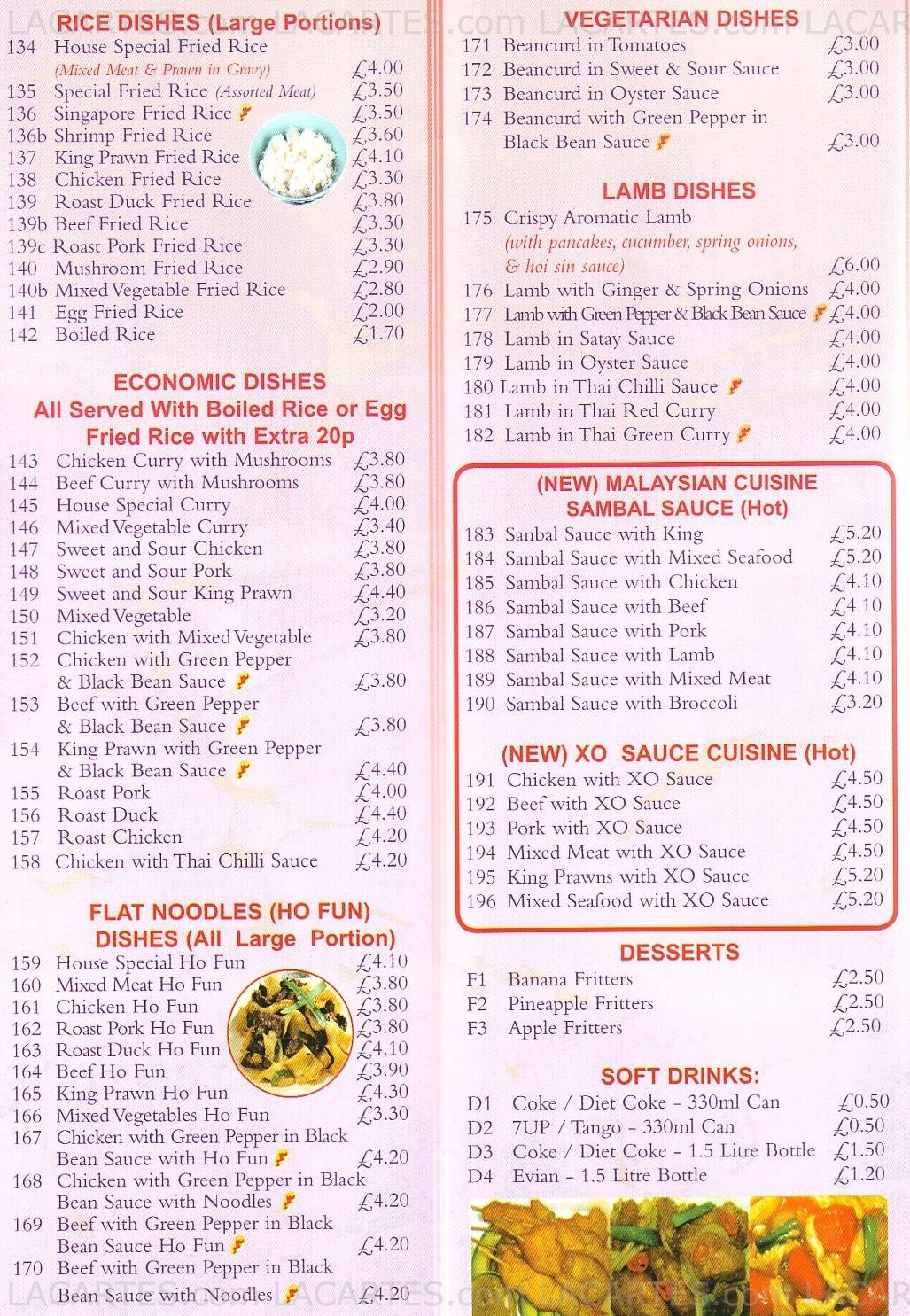 3 of 4 price lists menus john 39 s kitchen chinese for Perfect kitchen takeaway menu