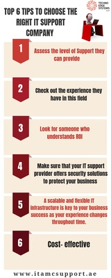 Top 6 tips to choose the right IT Support Company