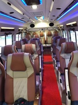 Interior of Tempo Traveller hire, Mini Bus and Bus Hire Rental Delhi Paras Interna
