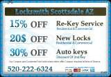Pricelists of Locksmith Scottsdale AZ