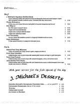 Pricelists of J. Michael's Restaurant & Lounge