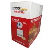 Cat6A Plenum 1000FT CMP Bulk Cable Solid Copper UL Blue, Cat6a Cable Company, Fremont