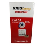 Bulk Cat6A Riser CMR 1000FT Cable 10G UL Certified Blue, Cat6a Cable Company, Fremont