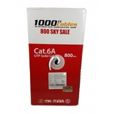 Cat6A CMR Riser Rated 1000FT Bulk Cable Solid Copper White, Cat6a Cable Company, Fremont