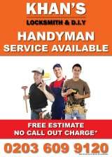 HANDYMAN IN E2 AREA COVERING TOWER HAMLETS & HACKNEY, KHAN'S LOCKSMITH & D.I.Y | Emergency locksmith | Fob key copy | Painting & Decorating | Tools & Hardwares | Handyman Services | Plumbing & Electrical, bethnal green
