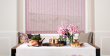 Vertical Blinds in fresh colours.
