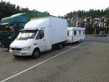 towing large caravan from Somerset to West Sussex