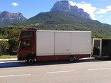 our 7.5 ton truck towing box trailer from Spain to UK via France