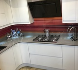TKC Lucenta Light Grey with Quartsform Light Grey Custom Worktop