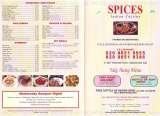 Pricelists of Spices Indian Restaurant