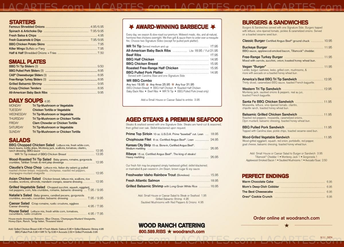 View Full Size Image ... - 2 Of 7 Price Lists & Menus €� Wood Ranch Chino Hills Chino Hills