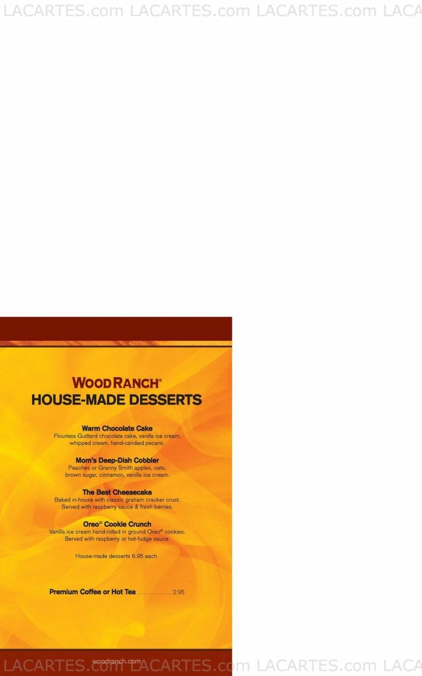 Pricelists of Wood Ranch Corona The Promenade Shops at Dos Lagos, 2785  Lakeshore Drive - - 6 Of 7 Price Lists & Menus €� Wood Ranch Corona Corona American Cuisine