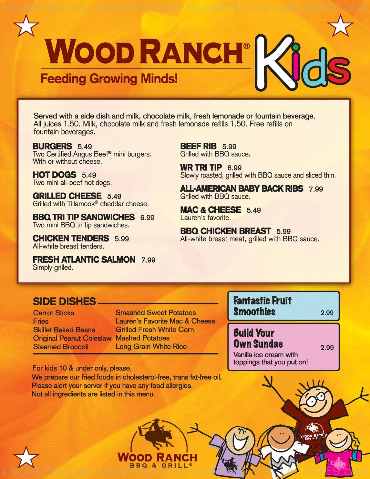 7 Of 7 Price Lists & Menus €  Wood Ranch The Grove, L.A. Los - Wood Ranch Grove WB Designs