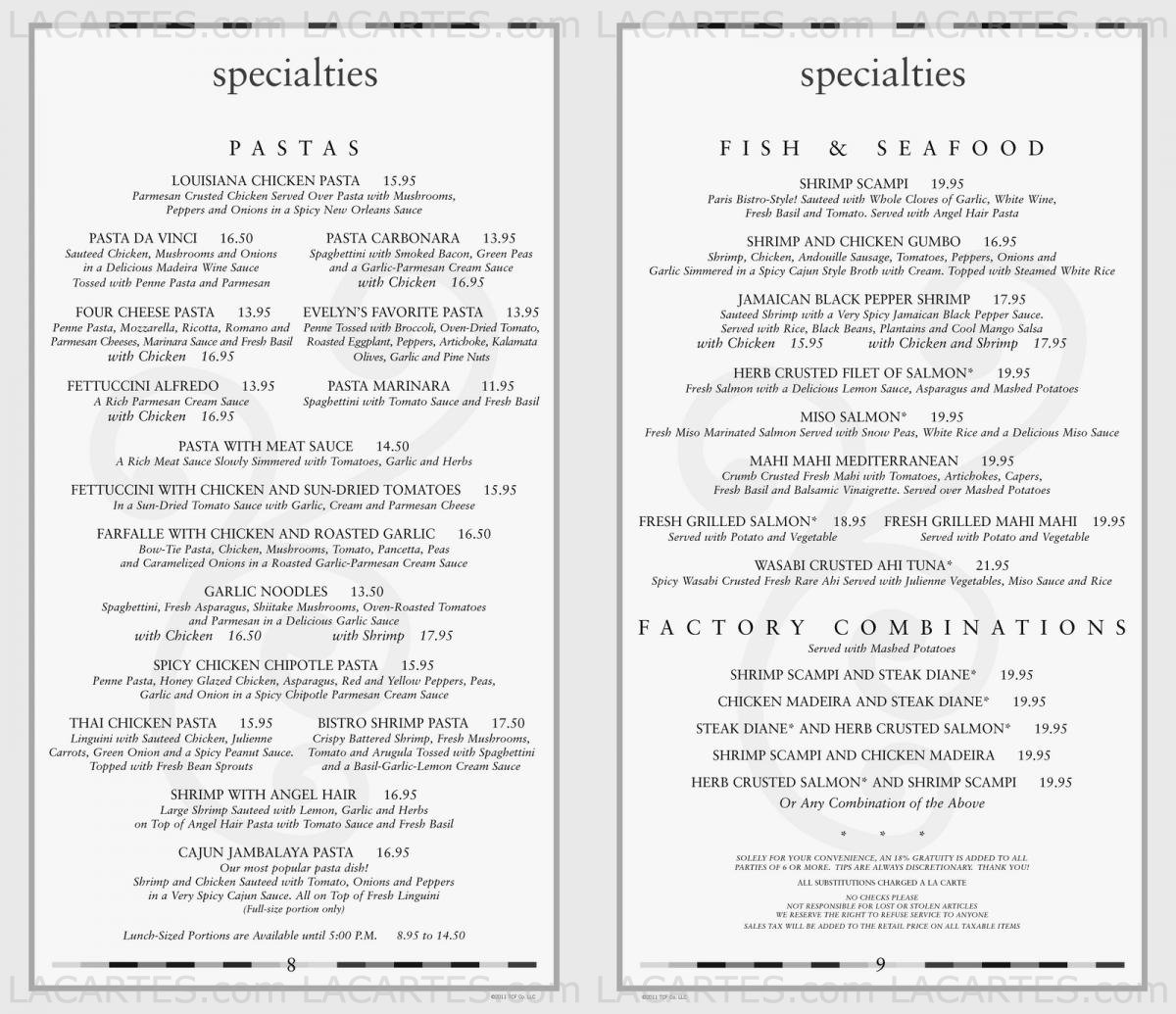 graphic about Cheesecake Factory Printable Menu identified as Place Charges For United kingdom Information: Costs For The Cheesecake Manufacturing facility Menu