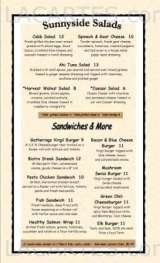 Menus & Prices, Gatherings Restaurant, Virgil