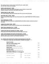 Pricelists of Page One Restaurant