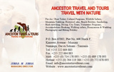 Pricelists of Ancestor Travel & Tours