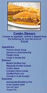 Pricelists of Leisure's Restaurant & Banquet Facility