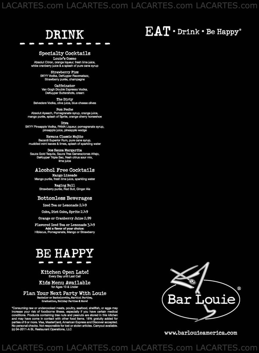 Pricelists of Bar Louie 5300 Touhy Avenue - Photo 2 of 3