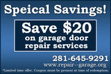 Pricelists of Repair Clopay Garage Door Seabrook