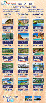 Menus & Prices, The Vacation Center - Vacations by Humans, Lake Forest