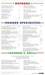 Pricelists of CHANGO LOCO MEXICAN CANTINA