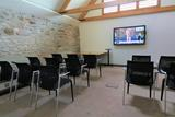 One of our meeting rooms near Bristol set up in theatre style configuration