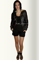 Crop Biker jacket for women
