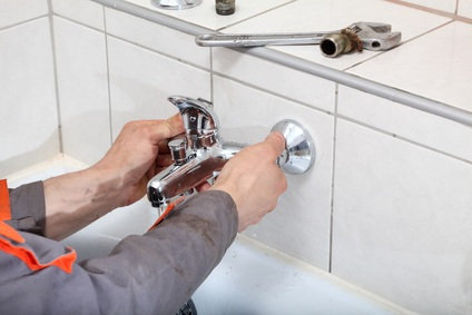Plumber hands fixing water  tap with spanner Profile Photos of Loodgieter RVH Onderhoud Rotterdam Benthuizerstraat 85-C - Photo 2 of 3