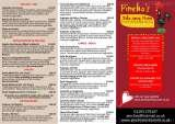 Menus & Prices, PINCHO'S RESTAURANT AND BAR - Crawley, Crawley