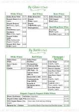 Pricelists of Riverside Vegetaria Vegetarian Restaurant