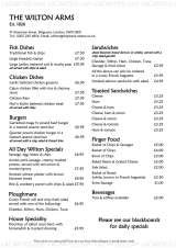 Pricelists of Wilton Arms