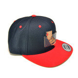 Map of California Wood Charm Black and Red Snapback hat